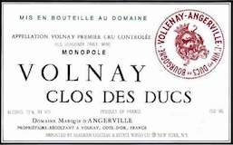 Domaine Marquis d'Angerville Volnay Premier Cru Clos des Ducs label