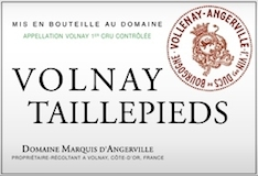 Domaine Marquis d'Angerville Volnay Premier Cru Taillepieds label