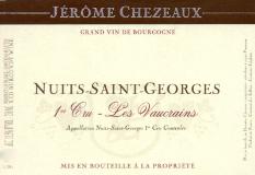 Jérôme Chezeaux Nuits-Saint-Georges Premier Cru Les Vaucrains label