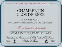 Domaine Bruno Clair Chambertin Clos de Bèze Grand Cru  label