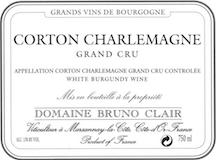 Domaine Bruno Clair Corton-Charlemagne Grand Cru  label