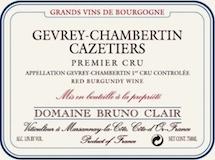 Domaine Bruno Clair Gevrey-Chambertin Premier Cru Les Cazetiers label