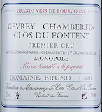 Domaine Bruno Clair Gevrey-Chambertin Premier Cru Fontenys label