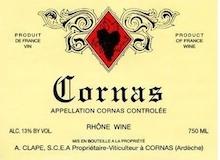 Domaine Auguste Clape Cornas  label