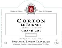 Domaine Bruno Clavelier Corton Grand Cru Le Rognet label