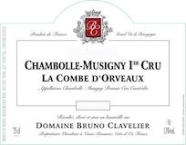 Domaine Bruno Clavelier Chambolle-Musigny Premier Cru La Combe d'Orveaux Vieilles Vignes label