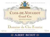 Domaine du Clos Frantin Clos de Vougeot Grand Cru  label