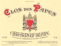 Clos des Papes Châteauneuf-du-Pape  label