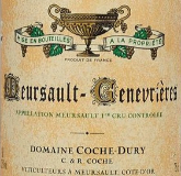 Domaine Jean-François Coche-Dury Meursault Premier Cru Genevrières label