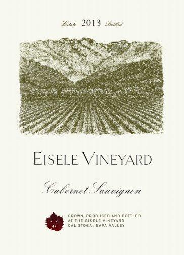Eisele Vineyard Estate (formerly Araujo) Cabernet Sauvignon label