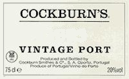 Cockburn's Porto  Vintage Port label