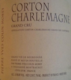 Domaine Pierre-Yves Colin-Morey Corton-Charlemagne Grand Cru  label