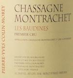 Domaine Pierre-Yves Colin-Morey Chassagne-Montrachet Premier Cru Les Baudines label