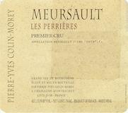 Domaine Pierre-Yves Colin-Morey Meursault Premier Cru Perrières label