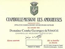 Domaine Comte Georges de Vogüé Chambolle-Musigny Premier Cru Les Amoureuses label