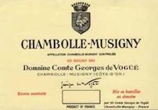Domaine Comte Georges de Vogüé Chambolle-Musigny Premier Cru  label