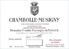 Domaine Comte Georges de Vogüé Chambolle-Musigny  label