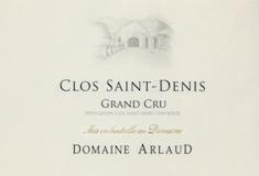 Domaine Arlaud Clos Saint-Denis Grand Cru  label