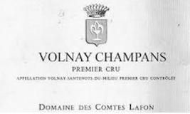 Domaine des Comtes Lafon Volnay Premier Cru Champans label