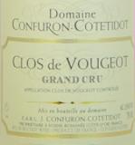 Domaine Confuron-Cotetidot Clos de Vougeot Grand Cru  label
