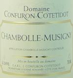 Domaine Confuron-Cotetidot Chambolle-Musigny  label