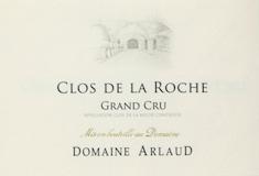 Domaine Arlaud Clos de la Roche Grand Cru  label