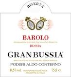 Poderi Aldo Conterno Barolo Granbussia Riserva label