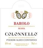Poderi Aldo Conterno Barolo Colonello label