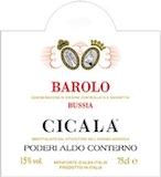 Poderi Aldo Conterno Barolo Cicala label