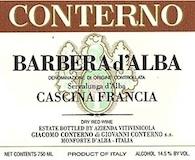 Giacomo Conterno Barbera d'Alba Cascina Francia label