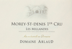 Domaine Arlaud Morey-Saint-Denis Premier Cru Les Millandes label