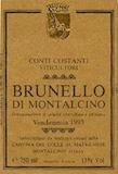 Conti Costanti Brunello di Montalcino  label