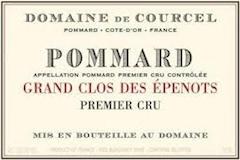 Domaine de Courcel Pommard Premier Cru Grand Clos des Epenots label