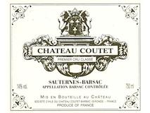 Château Coutet  Premier Cru label