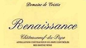 Domaine de Cristia Châteauneuf-du-Pape Cuvée Renaissance label