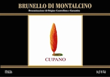 Cupano Brunello di Montalcino  label