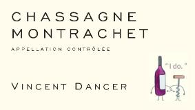 Vincent Dancer Chassagne-Montrachet Premier Cru La Romanée label