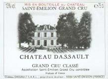 Château Dassault  Grand Cru Classé label