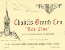 Vincent Dauvissat Chablis Grand Cru Les Clos label