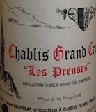Vincent Dauvissat Chablis Grand Cru Les Preuses label