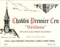 Vincent Dauvissat Chablis Premier Cru Vaillons label