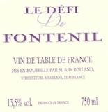 Château Fontenil Le Défi de Fontenil  label