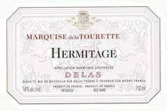 Delas Frères Hermitage Marquise de la Tourette label