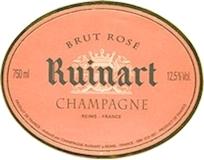 Ruinart Rosé label