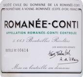 Domaine de la Romanée-Conti Romanée-Conti Grand Cru  label