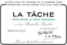 Domaine de la Romanée-Conti La Tâche Grand Cru  label