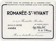 Domaine de la Romanée-Conti Romanée-Saint-Vivant Grand Cru  label