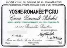 Domaine de la Romanée-Conti Vosne-Romanée Premier Cru Cuvée Duvault Blochet label