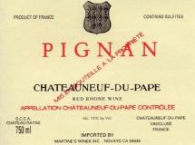 Château Rayas Châteauneuf-du-Pape Pignan Reserve label