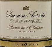 Domaine Laroche Chablis Grand Cru Les Blanchots label